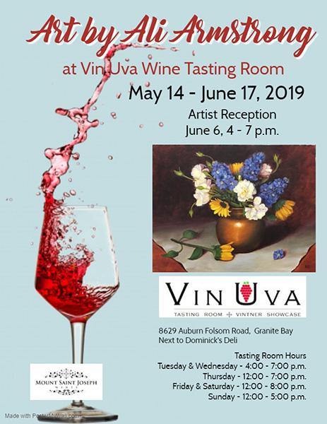 Art by Ali Armstrong - Vin Uva Wine Tasting Room