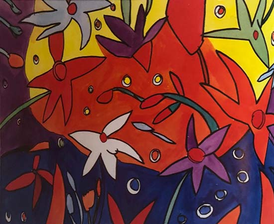 Sutter Street Artist Gallery * Starry Flowers by Kevin Mount